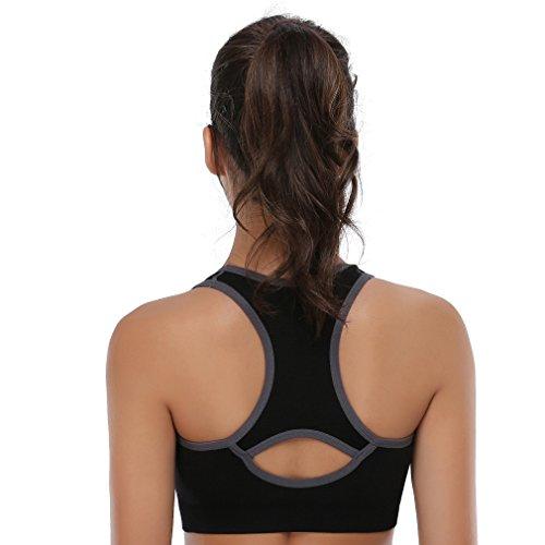 4088fb2688e BAOMOSI Women s Seamless High Impact Support Racerback Workout Yoga Sports  Bra