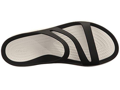 Delle Donne Crocs Swiftwater Sandalo Bianco Nero