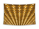 Gear New Wall Tapestry For Bedroom Hanging Art Decor College Dorm Bohemian, Chicago Golden Bulbs Marquee Lights, 80x68