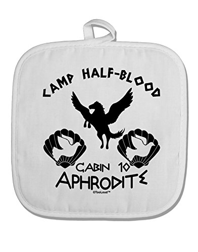 TooLoud Cabin 10 Aphrodite Camp Half Blood White Fabric Pot Holder Hot Pad