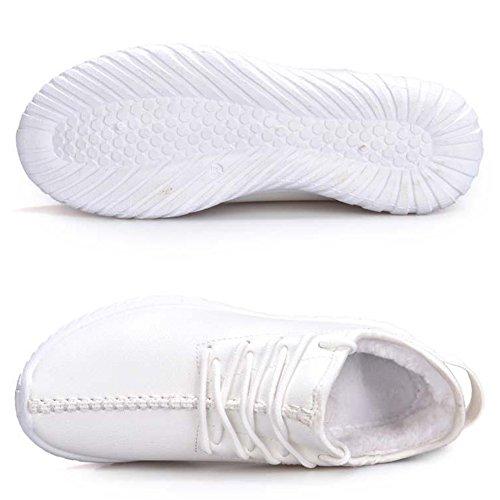 ROSEUNION Unisex - Erwachsene Stiefel Warm Gefütterte Winterschuhe Wasserdicht Herren Damen Freizeitschuhe Outdoor Sport Schuhe Casual Sneakers Schneestiefel Weiß