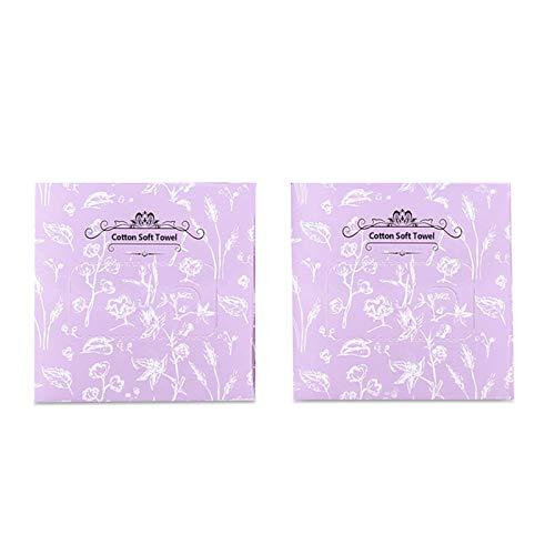 Facial Cotton Tissue Multi-purpose Cotton Soft Towel Wipes Dry Wet Amphibious Unscented Cotton Tissues for Sensitive…