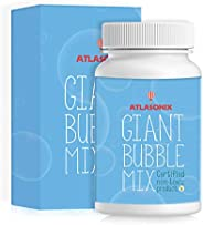 Atlasonix Giant Bubbles Mix - Makes 7 Gallons of Big Pure Bubble Solution for Kids | Non Toxic All Natural Bub