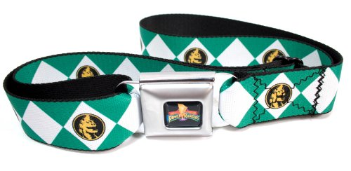 Diamond Green Ranger Seatbelt Belt - Authentic Green Ranger Costumes