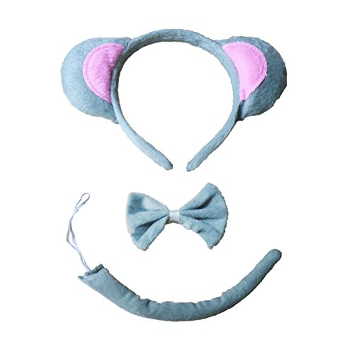 Many Mouse Costume (Kids Costumes for Halloween Party Animal Cute Dog Cat Halloween Costumes for Kids (Grey Mouse -3Piece))