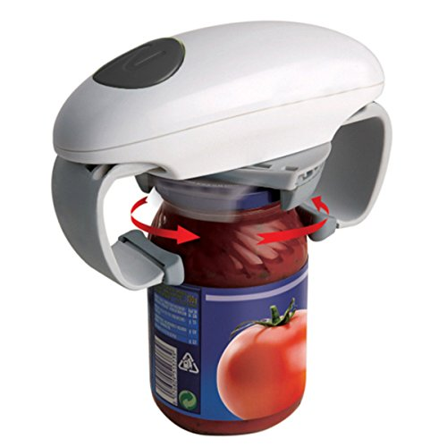 Marketworldcup - Automatic Electric Jar Opener One Touch Can Tin Opener Kitchen Tools Gadget USA