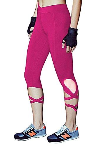 Davikey comfortable Women's Comfy Fitness Pants Stretch S PurpleSmall