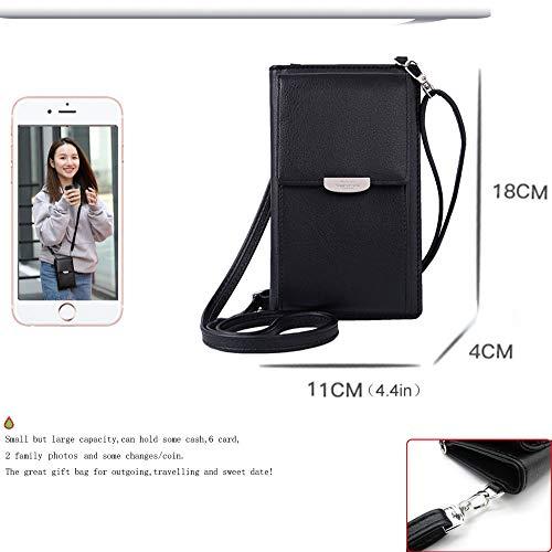 Summer Small Crossbody Bag, Cell Phone Purse Wallet with 2 Adjustable Shoulder Strap Handbag for Women (Black) by VIVI MAO (Image #2)