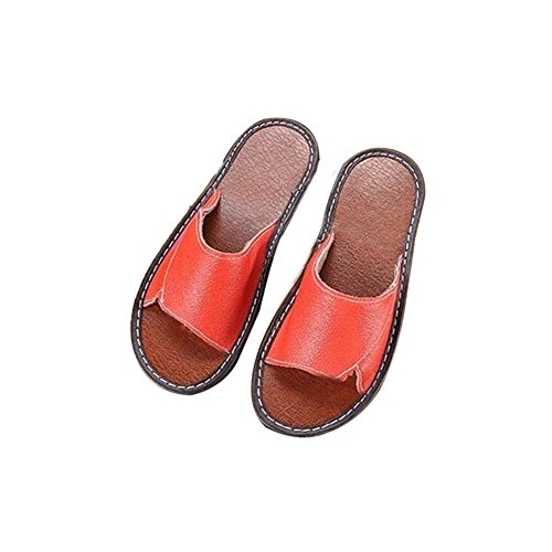 Slippers Floor Spring TELLW for Men Smelly Leather Summer Cowhide Women Corium Wooden Anti Autumn Rx6B4qzvwx