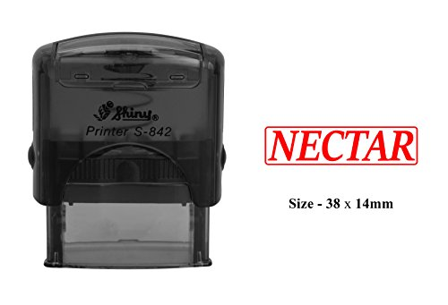 NECTAR Plastic Stamp Clear Print For Office Use Shiny Self-Inking - Logo Nectar