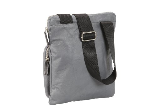 Design Nava Gray Bag N Crossed leather qx6w16ZX0
