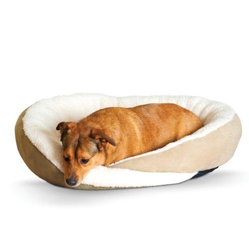 Cheap K&H Pet Products Huggy Nest Pet Bed Large Sage/Tan 36″ x 30″