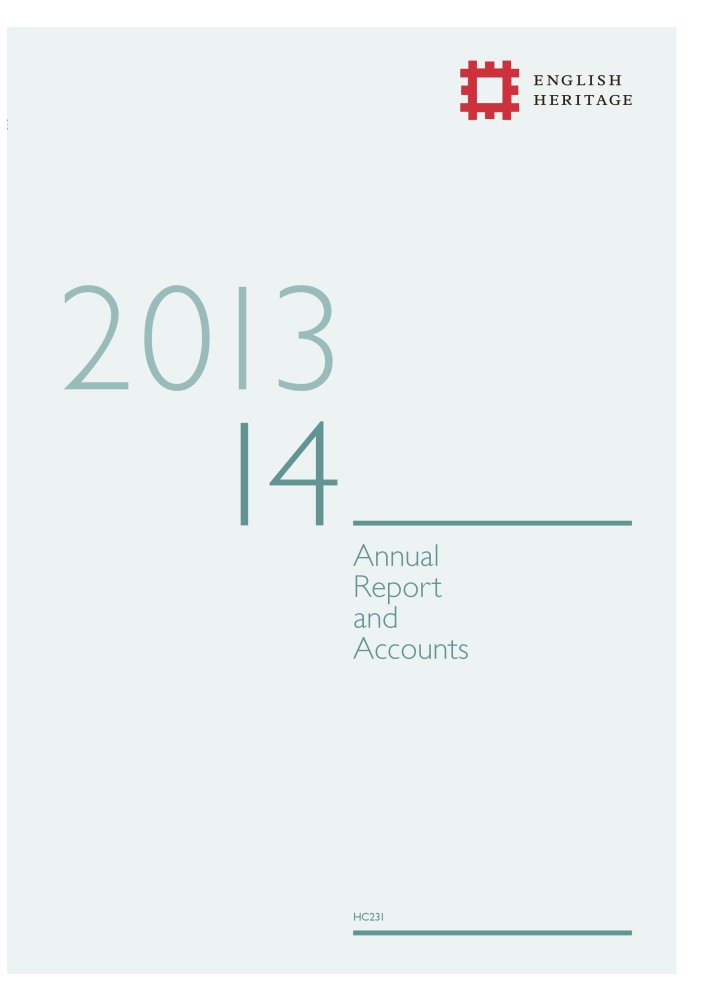 English Heritage annual report and accounts 2013-14 (House of Commons Papers) Text fb2 ebook