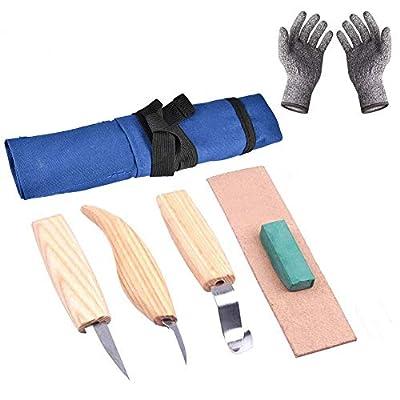 nulala Woodcarving Cutter Woodwork Sculptural DIY Wood Handle Spoon Carving Knife Woodcut Tools