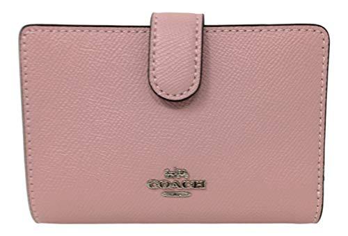 Coach Crossgrain Leather Medium Corner Zip Wallet Carnation F11484