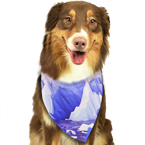 (HGFR Low Poly Landscape Art Wallpaper Customized Dog Headscarf Bright Coloured Scarfs Cute Triangle Bibs Accessories for Pet Dogs)