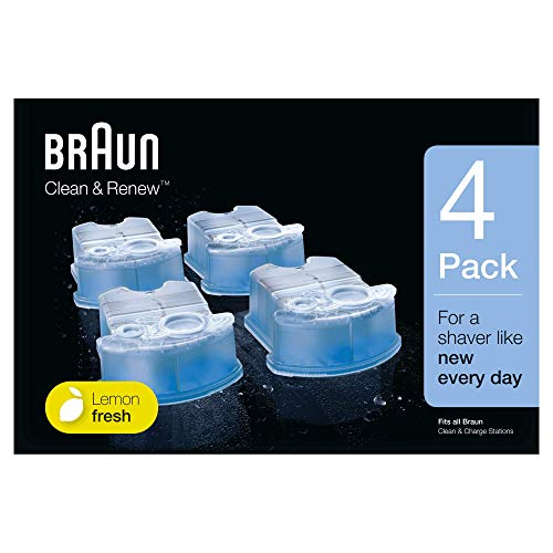 Braun Clean and Renew 4 Pack, Cartridge, Refill, Replacement Cleaner, Cleaning Solution (Braun 790cc Best Price)