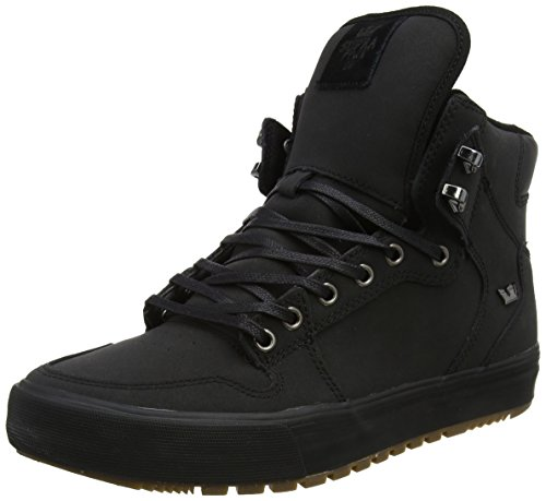 Supra Mens Vaider Cold Weather Black Dark Gum Shoes Size 10.5