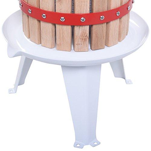 Eminetshop 1.6 Gallon Fruit Wine Making Press Cider Apple Grape Crusher Juice Maker Tool Wood Basket for Kitchen by Eminetshop (Image #2)