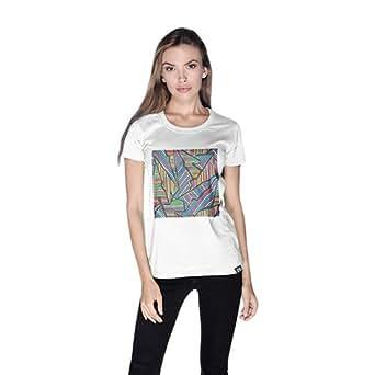Creo Abstract 02 Retro T-Shirt For Women - S, White