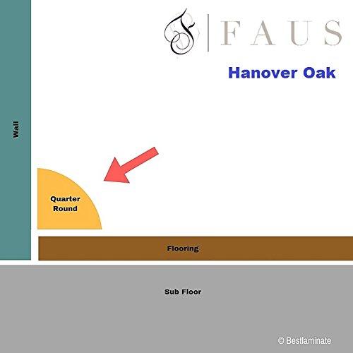 Oak Quarter Round Molding 94-1/16'' x 3/4''' Hanover Oak (Pack of 10) - Floor Base Molding for Wood, Laminate, Wpc, Lvt and Vinyl