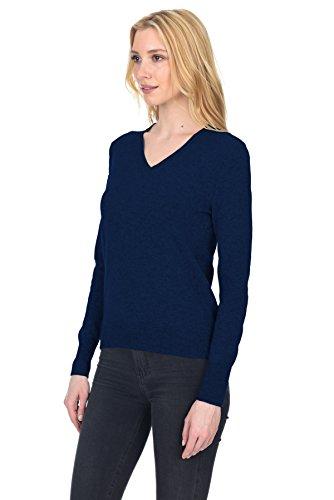 Lana V Donna Marina Collo Cashmere Con Manica Pullover Stile State Fusio Lunga A Classico tAwnqwRZ