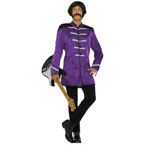 Pop Stars Costumes (Forum Novelties 60's Revolution British Invasion Pop Star Costume, Purple, One)