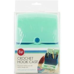 Boye 3426274001 Crochet Hook Organizer Craft Storage Case, 5.4'' x 7.25'' x 2.75'', Multicolor