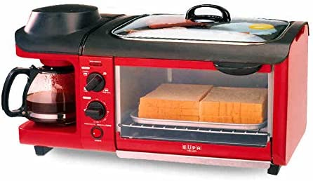 Desayuno 3 en 1 máquina 600W cafetera + 700W teppanyaki + 900W ...