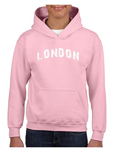 Mom`s Favorite London City UK Europe Traveler Gift Unisex Hoodie for Girls and Boys (SLP) Light -