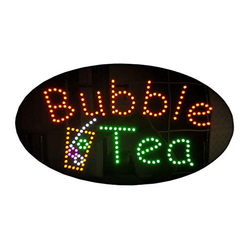 Led Smoothies Sign - LED Boba Tea Open Light Sign Super Bright Electric Advertising Display Board for Juice Bar Bubble Tea Smoothie Coffee Cafe Business Shop Store Window Bedroom Decor 27 x 15 inches