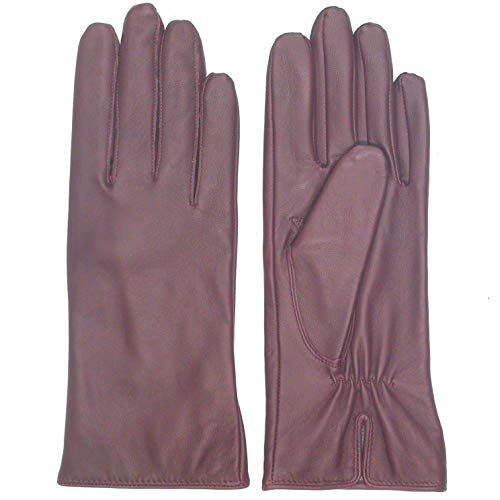 (Leather Gloves for Women - Deluxe SheepSkin Leather women's Gloves Wool Lining)