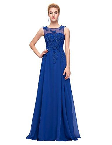 Women Backless Blue Long Wedding Gown Size ()