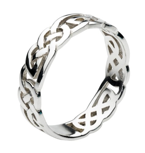 Heritage Women Sterling Silver Celtic Open Knotwork Ring, O