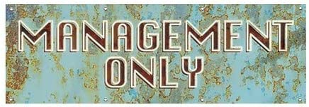 CGSignLab Management Only 12x4 Ghost Aged Blue Heavy-Duty Outdoor Vinyl Banner