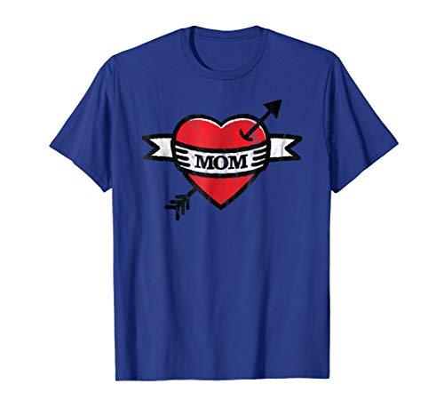 Classic Mom Heart Tattoo T-Shirt