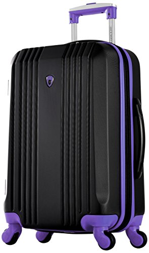 "Carry-on measurements. Olympia Apache Ii 21"" Carry-on Spinner, BLACK+PURPLE"