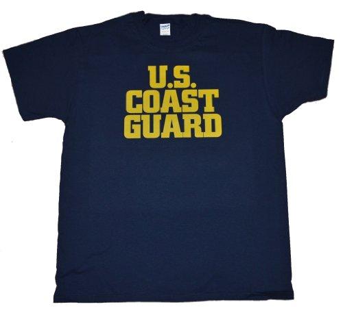 Got-Tee US Army Military US Coast Guard T-Shirt L Navy Blue