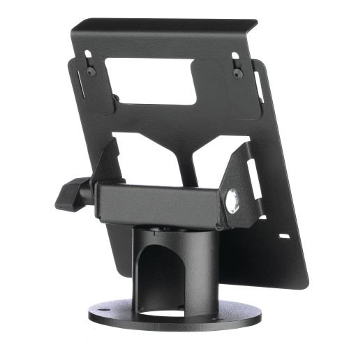 MMF Industries POS MMFPS9604A Payment Terminal Stand for Ingenico Isc250, Secured L-Bracket and Security Cable Slot