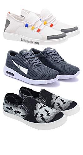 Bersache Men's Running Shoes (Set of 3 Pairs)