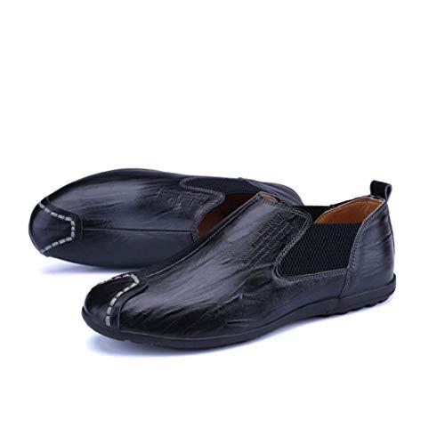 Chaussures Marche YH Pois Ons Confortables en Respirantes paresseuses Chaussures de Chaussures Noir Slip Printemps Cuir Hommes Chaussures élégantes Chaussures Mocassins d'entraînement Automne en UUR4gwAxq