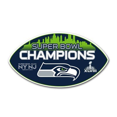 Seattle Seahawks Super Bowl Champions Vinyl Magnet