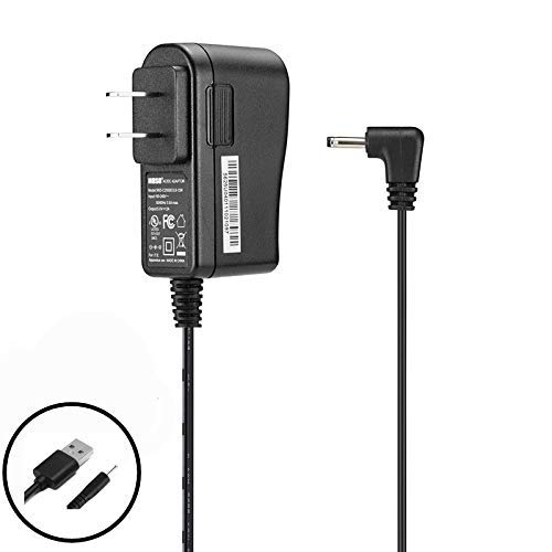 Replacement Home Wall AC Power Adapter Charger + DC USB Charging Cable RCA 10 Viking Pro RCT6303W87DK RCT6303W87 10.1 inch RCT6213W87DK RCT6213W87 11.6 inch Tablet
