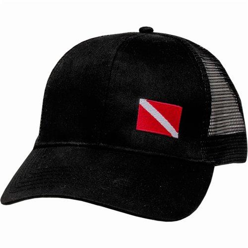 Diver Hat (Innovative Scuba Concepts Hat-Mesh Back with Dive Flag)