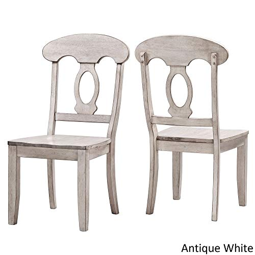 Inspire Q Eleanor Napoleon Back Wood Dining Chair (Set of 2) by Classic Antique White Antique