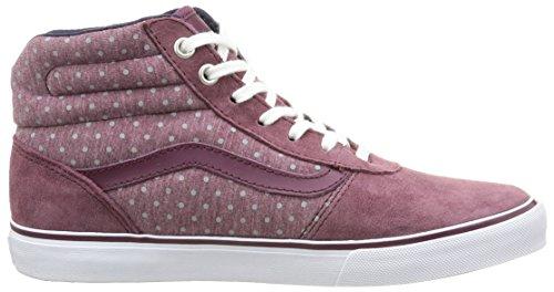 Suede Hi W Milton Violet Basses Wine Gray Vans Suede Femme Baskets 78E6qxTw