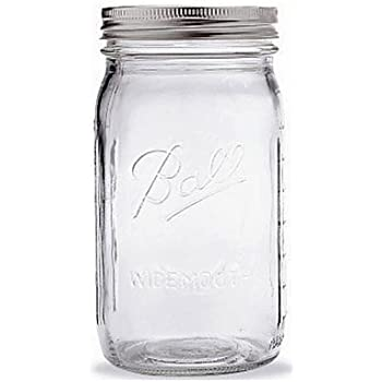Ball Quart Jar with Silver Lid, Wide Mouth, 1 Jar