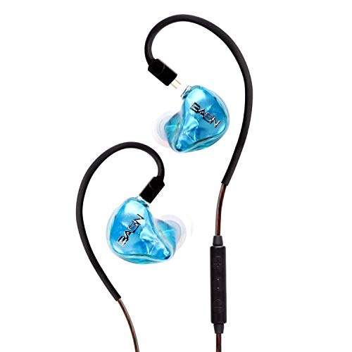 BASN Tempos in Ear Monitor Headphones with Detachable 2 Pin Cable Universal Fit Monitoring Earphone for Stage Studio Audiophile