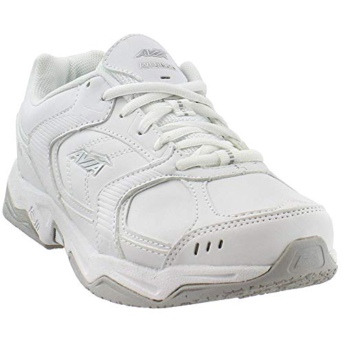 (AVIA Men's Union Service Shoe, White/Chrome Silver/Steel Grey, 10 M US)