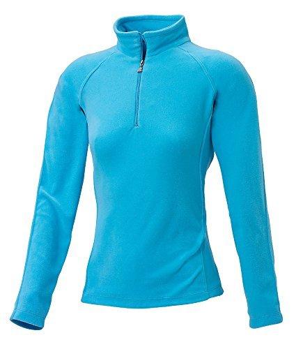 Medico Damen Ski Shirt, 46, turqouise, Türkis, 100% Polyester, Fleece, langarm, Reißverschluss